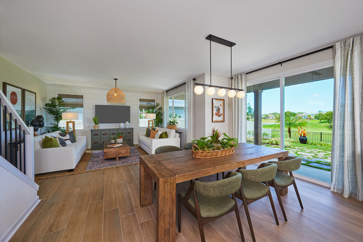 Keali'i Plan 1 - Dining and Living Room